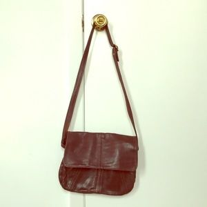 Victoria Leather Co. Crossbody, Brown Leather